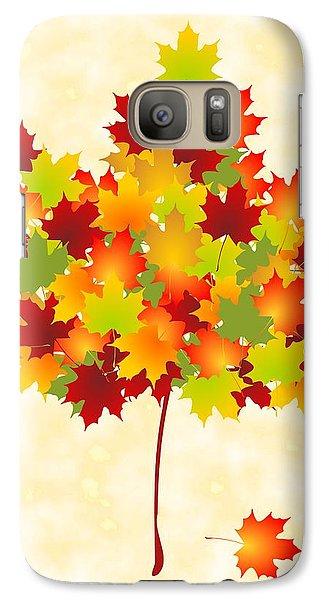 Maple Leaves Galaxy Case by Anastasiya Malakhova