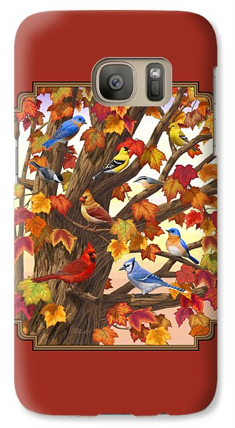 Maple Tree Marvel - Bird Painting Galaxy S7 Case by Crista Forest