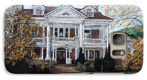 Galaxy Case featuring the painting Mapleton Hill Homestead by Tom Roderick