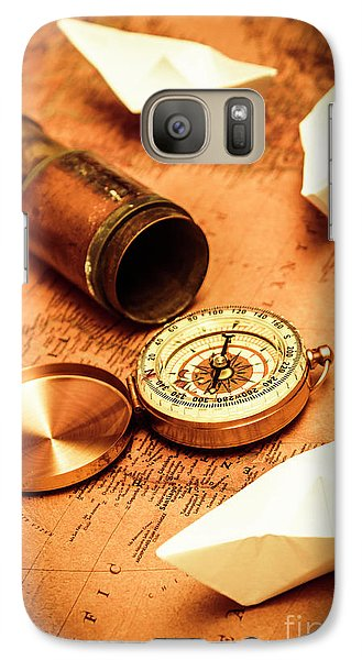 Maps And Bearings Galaxy S7 Case