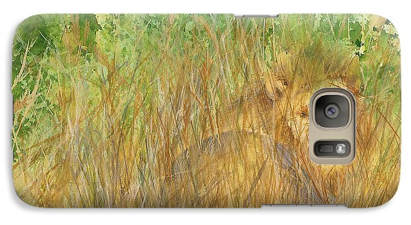 Galaxy Case featuring the painting Mara The Lioness by Vicki  Housel