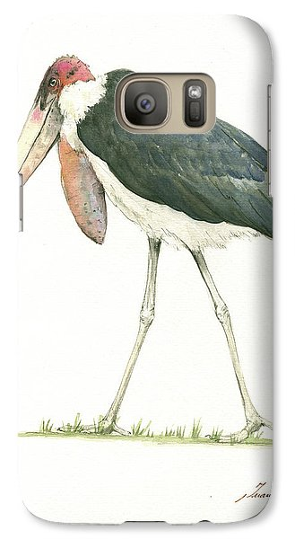 Stork Galaxy S7 Case - Marabou by Juan Bosco