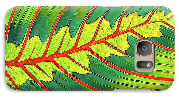 Galaxy Case featuring the digital art Maranta Red 2 by ABeautifulSky Photography