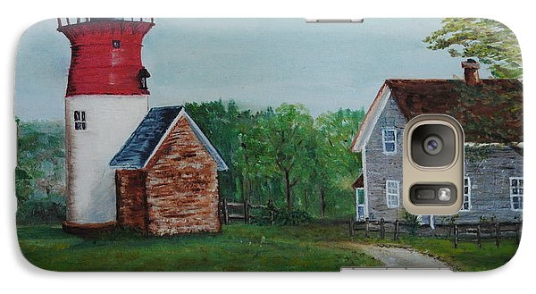 Galaxy Case featuring the painting Marbelhead Lighthouse by Debbie Baker
