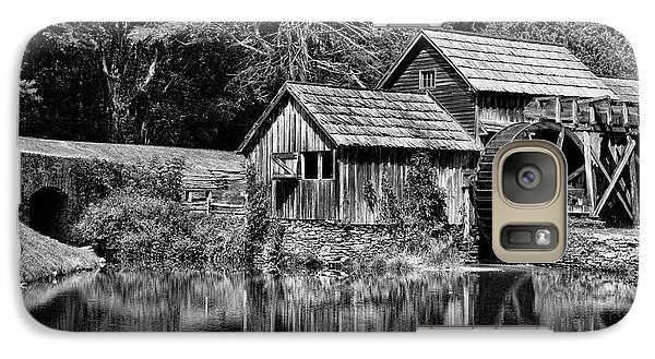 Galaxy Case featuring the photograph Marby Mill In Black And White by Paul Ward