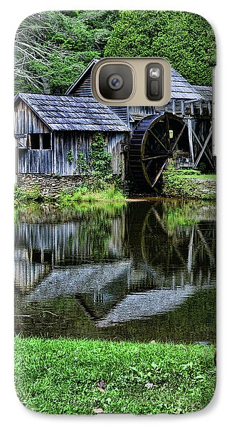 Galaxy Case featuring the photograph Marby Mill Reflection by Paul Ward