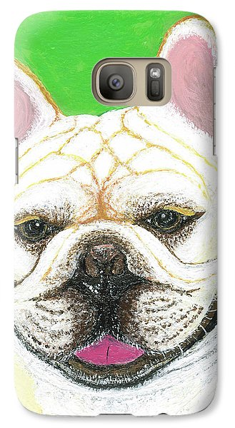 Galaxy Case featuring the painting Marcel French Bulldog by Ania M Milo