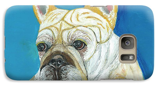 Galaxy Case featuring the painting Marcel II French Bulldog by Ania M Milo
