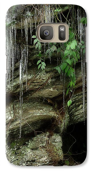 Galaxy Case featuring the photograph March Icicles 2 by Mike Eingle