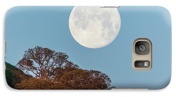 Galaxy Case featuring the photograph March Moonset by Marc Crumpler