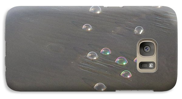 Galaxy Case featuring the photograph March Of The Bubbles by Marie Neder