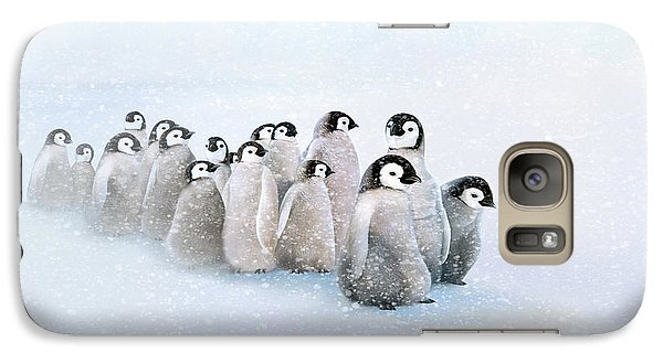 Galaxy Case featuring the digital art March Of The Penguins by Thanh Thuy Nguyen