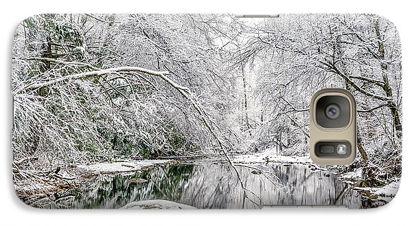 Galaxy Case featuring the photograph March Snow Along Cranberry River by Thomas R Fletcher