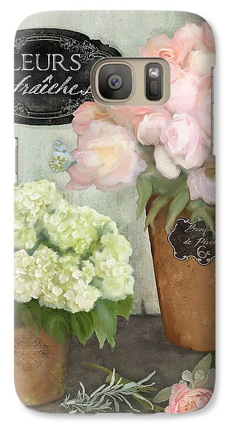 Galaxy Case featuring the painting Marche Aux Fleurs 2 - Peonies N Hydrangeas by Audrey Jeanne Roberts