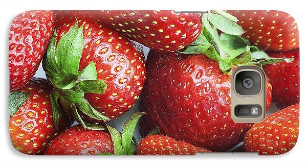Galaxy Case featuring the photograph Marco View Of Strawberries by Paul Ge