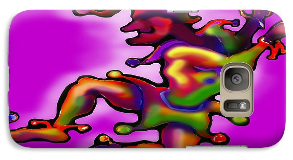 Galaxy Case featuring the painting Mardi Gras Jester by Kevin Middleton