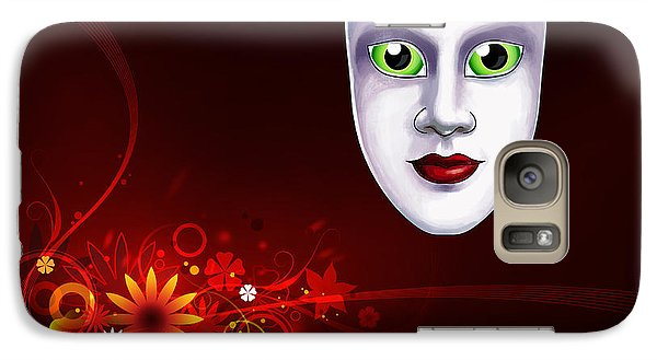 Galaxy Case featuring the photograph Mardi Gras Mask Red Vines by Gary Crockett