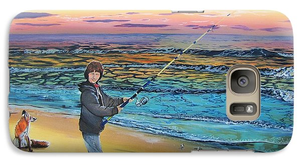 Galaxy Case featuring the painting Maria Mae by Kevin F Heuman