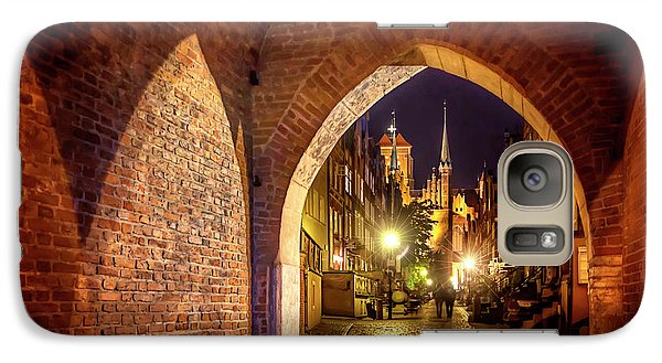 Galaxy Case featuring the photograph Mariacka By Night  by Carol Japp