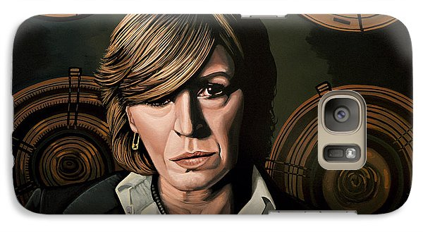 Marianne Faithfull Painting Galaxy S7 Case by Paul Meijering