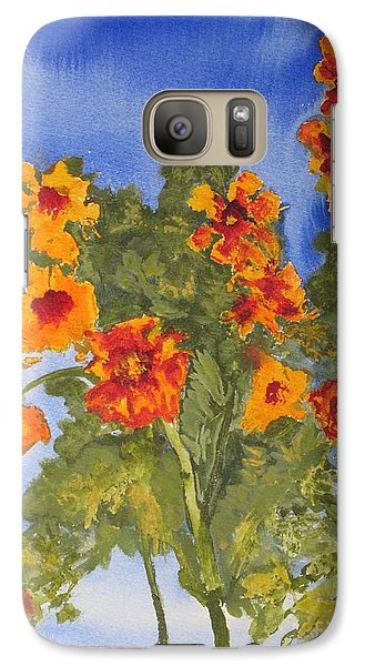 Galaxy Case featuring the painting Marigolds by Sandy McIntire