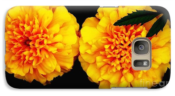 Galaxy Case featuring the photograph Marigolds With Oil Painting Effect by Rose Santuci-Sofranko