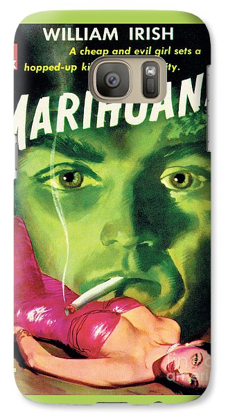 Galaxy Case featuring the painting Marihuana by Bill Fleming
