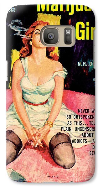 Galaxy Case featuring the painting Marijuana Girl by Santos