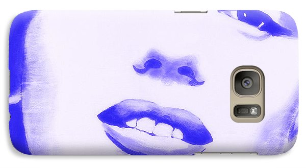 Galaxy Case featuring the painting Marilyn Monroe - Blue Tint by Bob Baker