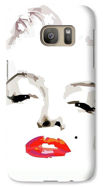 Marilyn Monroe Galaxy S7 Case - Marilyn Monroe Minimalist by Quim Abella
