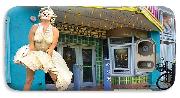 Marilyn Monroe In Front Of Tropic Theatre In Key West Galaxy S7 Case by David Smith