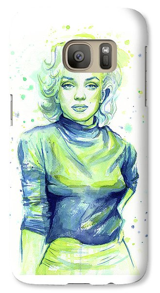 Marilyn Monroe Galaxy S7 Case by Olga Shvartsur