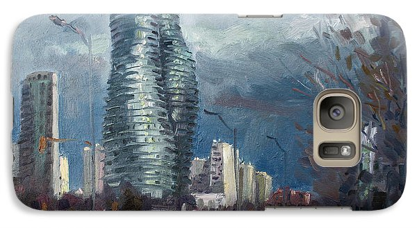 Marilyn Monroe Towers Mississauga Galaxy Case by Ylli Haruni