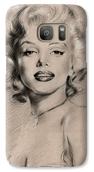 Marilyn Monroe Galaxy S7 Case by Ylli Haruni