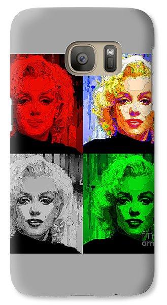 Marilyn Monroe - Quad. Pop Art Galaxy S7 Case