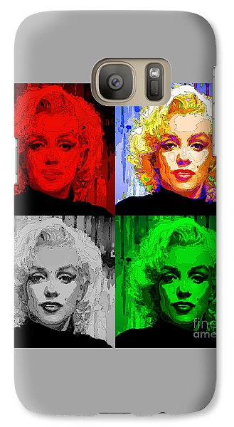 Marilyn Monroe - Quad. Pop Art Galaxy S7 Case