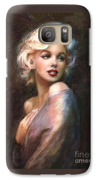 Portraits Galaxy S7 Case - Marilyn Romantic Ww 1 by Theo Danella