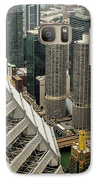 Galaxy Case featuring the photograph Marina Towers From Above by Andrew Soundarajan