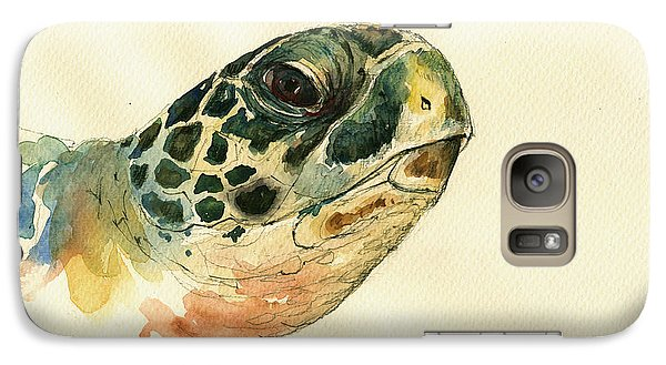 Marine Turtle Galaxy Case by Juan  Bosco