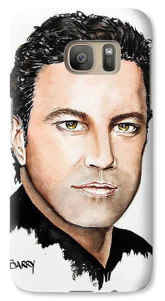 Galaxy Case featuring the painting Mario Frangoulis by Maria Barry
