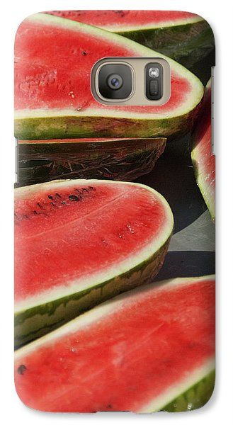 Galaxy Case featuring the photograph Market Melons by Michael Flood
