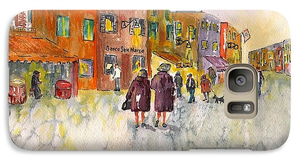 Galaxy Case featuring the painting Market Place In Borano by Sharon Mick