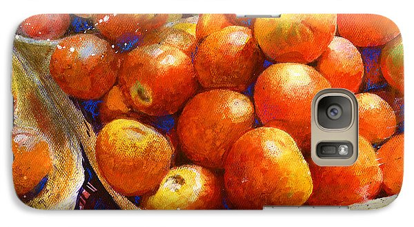 Galaxy Case featuring the painting Market Tomatoes by Andrew King