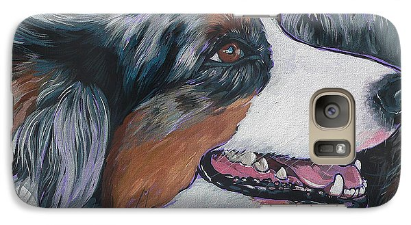 Galaxy Case featuring the painting Marley by Nadi Spencer