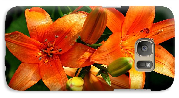 Galaxy Case featuring the photograph Marmalade Lilies by David Dunham