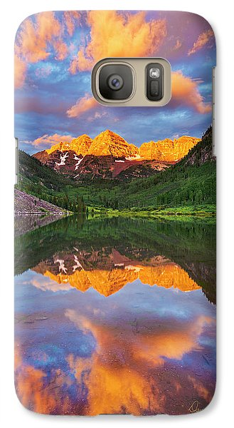 Maroon Bells Galaxy S7 Case