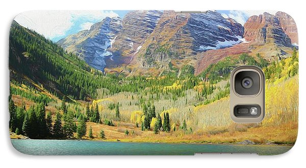 Galaxy Case featuring the photograph The Maroon Bells Reimagined 2 by Eric Glaser