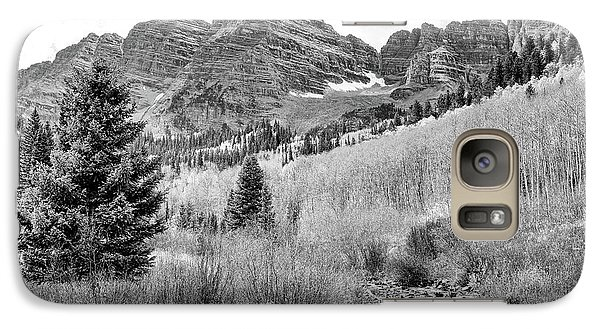 Galaxy Case featuring the photograph Maroon Bells Monochrome by Eric Glaser