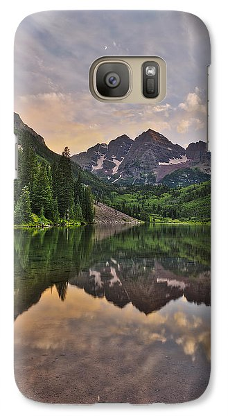 Galaxy Case featuring the photograph Maroon Bells Sunset - Aspen - Colorado by Photography  By Sai