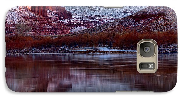 Galaxy Case featuring the photograph Maroon Fisher Towers by Adam Jewell